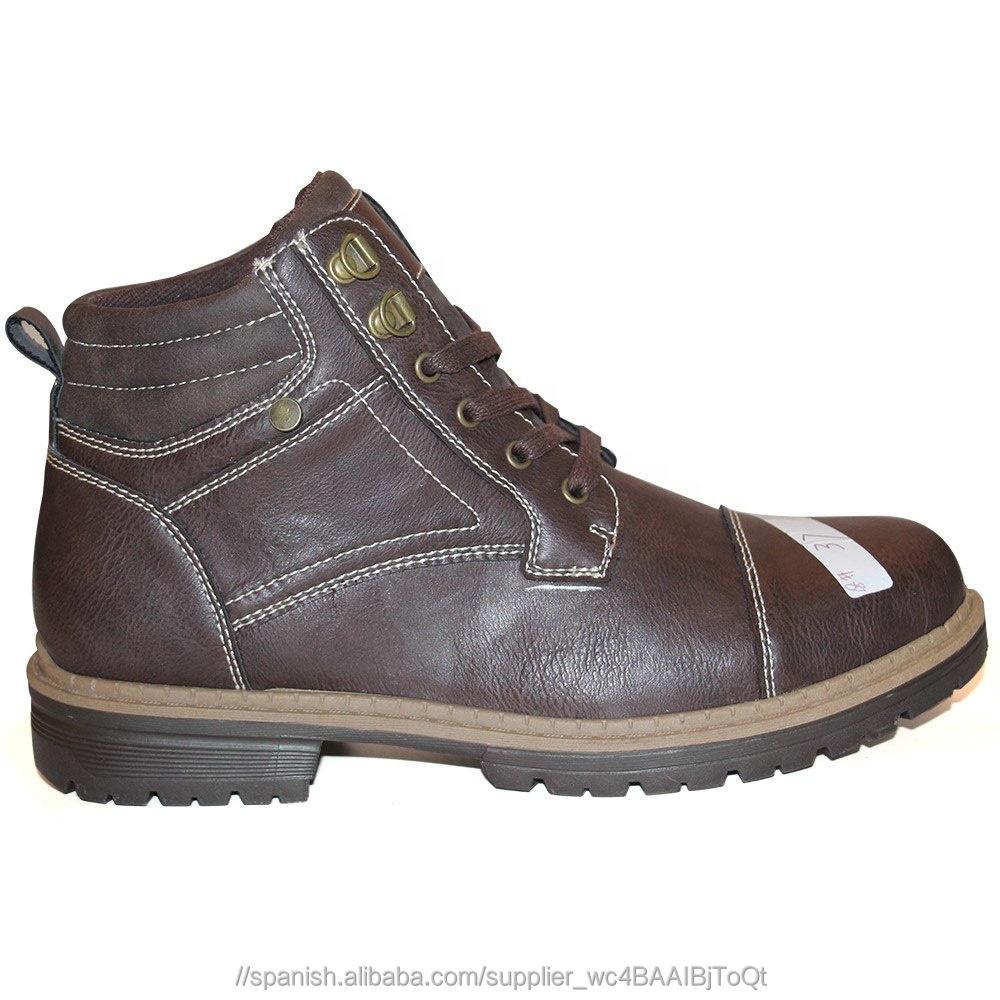 Punta de acero de cuero botas de seguridad botas del ejército
