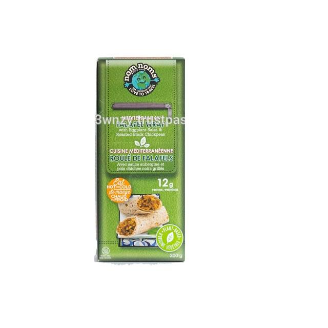 Microonde 200g Pronto A Mangiare Nom Noms Mega Mediterraneo Ispirato <span class=keywords><strong>Falafel</strong></span> Wrap