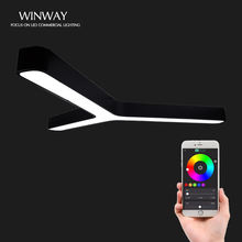 Modern RGB color suspended led wifi control smart kitchen pendant light