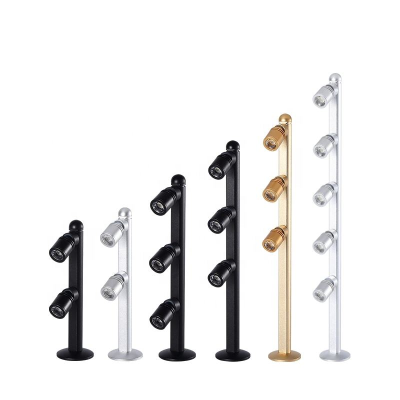 Led counter light jewelry jade vertical pole spotlights 2W3W straight pole lights boutique watch glasses display cabinet light