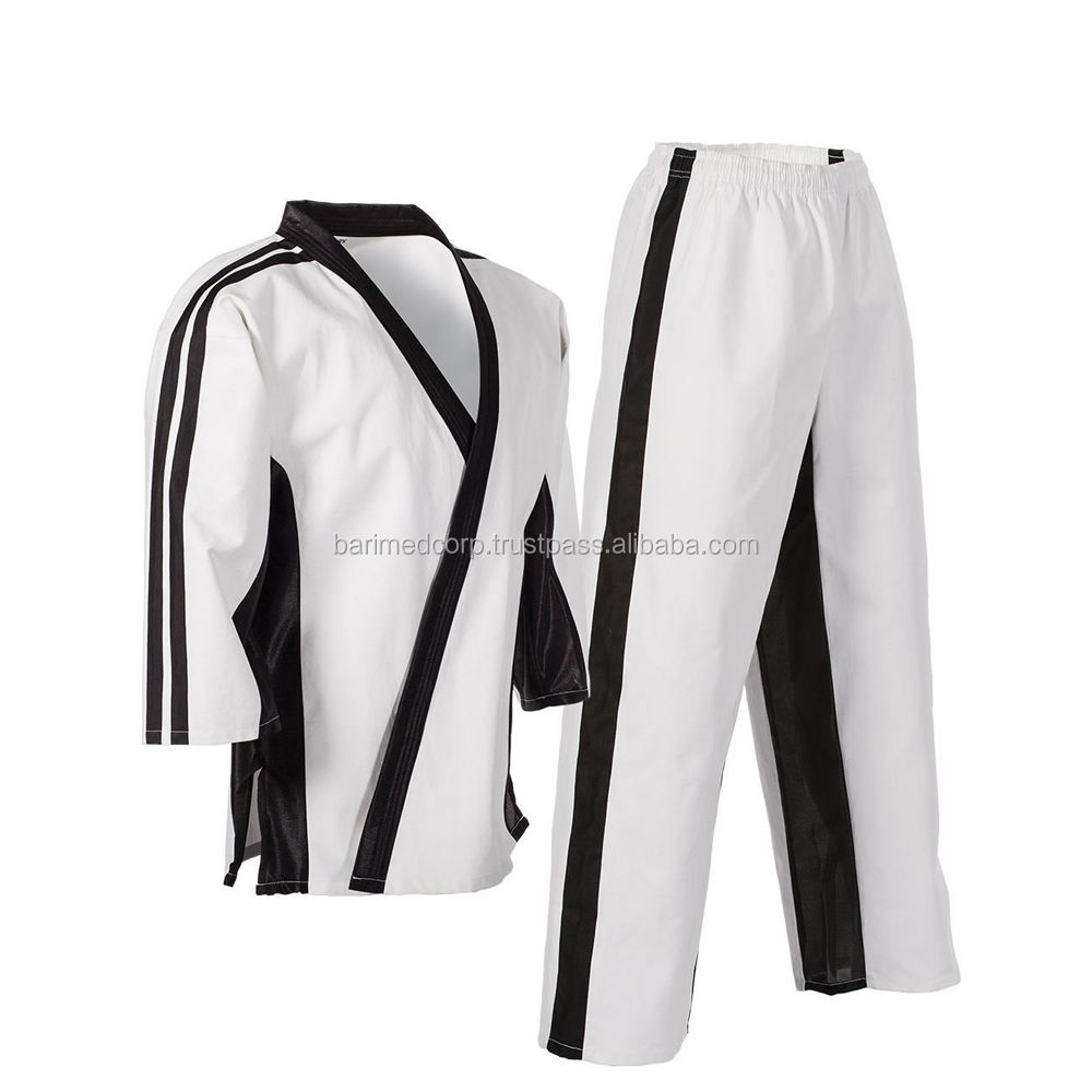 High quality Karate Uniform with Contrast stripes/Stylish Training karate suits /martial arts uniforms karate