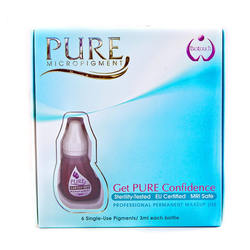 BioTouch Permanent Makeup Pure Line MicroPigment Cosmetic Color - Pure Earthy Red 3ml [6 Bottles Per Box]
