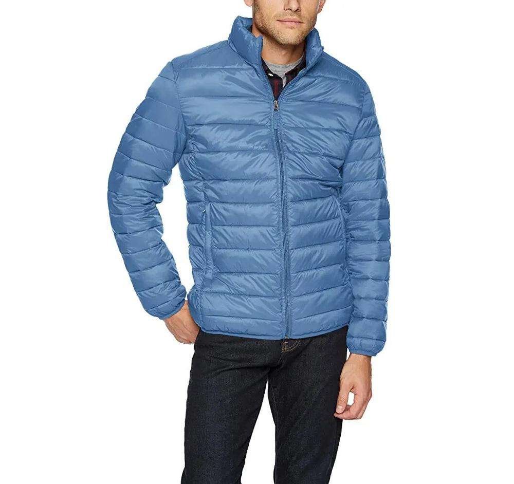 High quality manufacturing new 2019 quilted flight jackets sky blue nylon down jackets men bubble men wholesale jacket