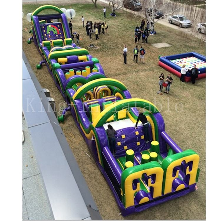 Outdoor inflatable obstacle course boot camp adult sports game
