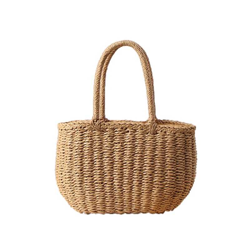 Cute straw summer straw handbag