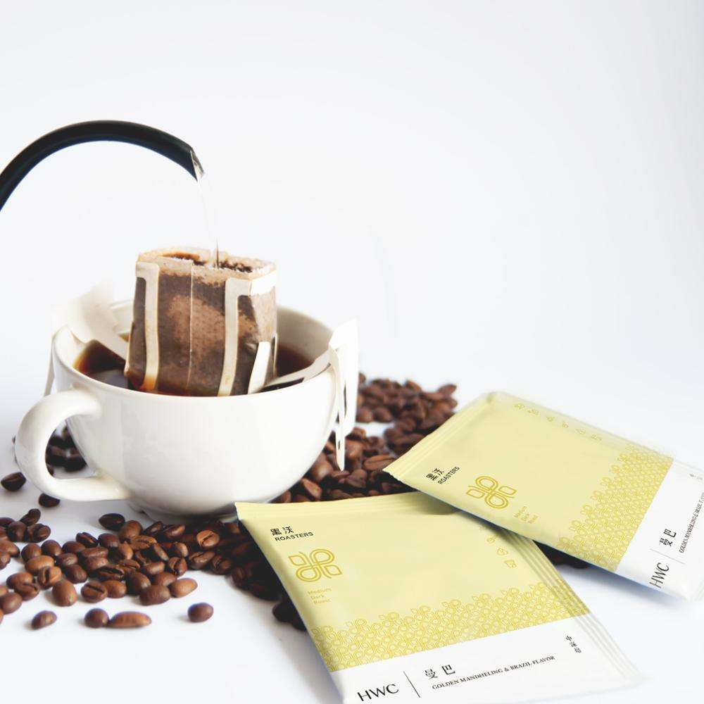Golden Mandheling & Brazil Ground Coffee Hanging Ear Drip Coffee OEM Wholesale Franchise for Sale