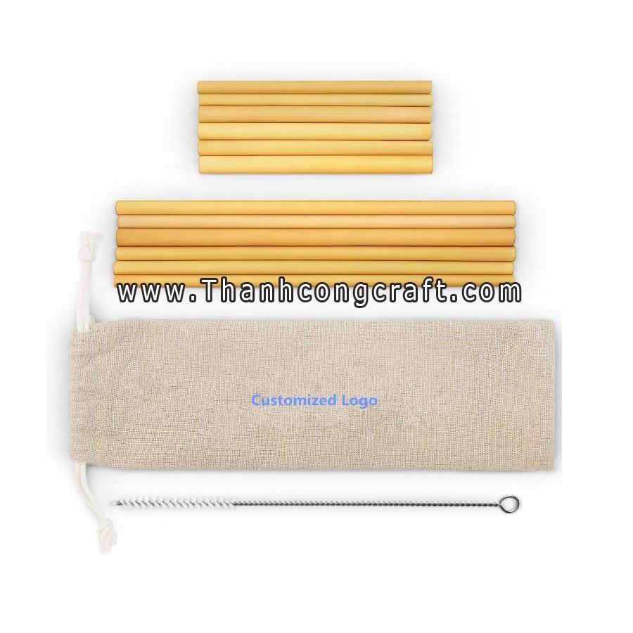 100% Pure Nature Bamboo Making Recycle Biodegradable Bubble Tea Straw