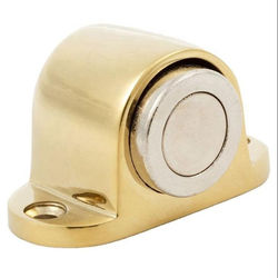 Floor Mounted Heavy Duty Magnetic Door Stopper Zinc Alloy Gold Platedl Finish DTDS031 Dorfit