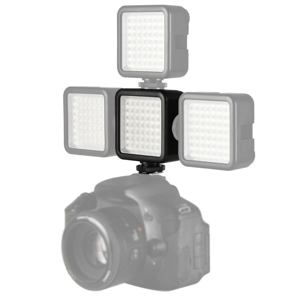 CPYP W49LEDビデオライトオンカメラPh oto Studio Lighting Hot Shoe LED Vlog Fill Light Lamp for Smartphone DSLR SLR Camera