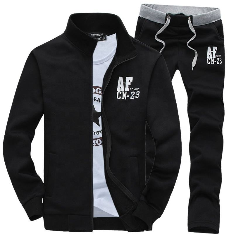 Custom new design casual stylish plain mens cheap sport gym track suit