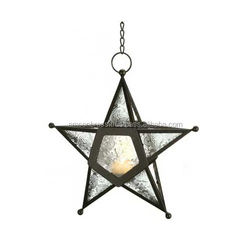 Wedding Home Party Decorative Star Shape Hanging Candle Lantern