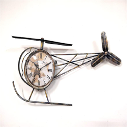Helicopter Clock Wall Clocks Antique Style Circular Needle M