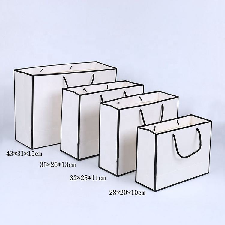 Custom Printing Simple And Elegant Gift Paper Shopping Bags With LOGO