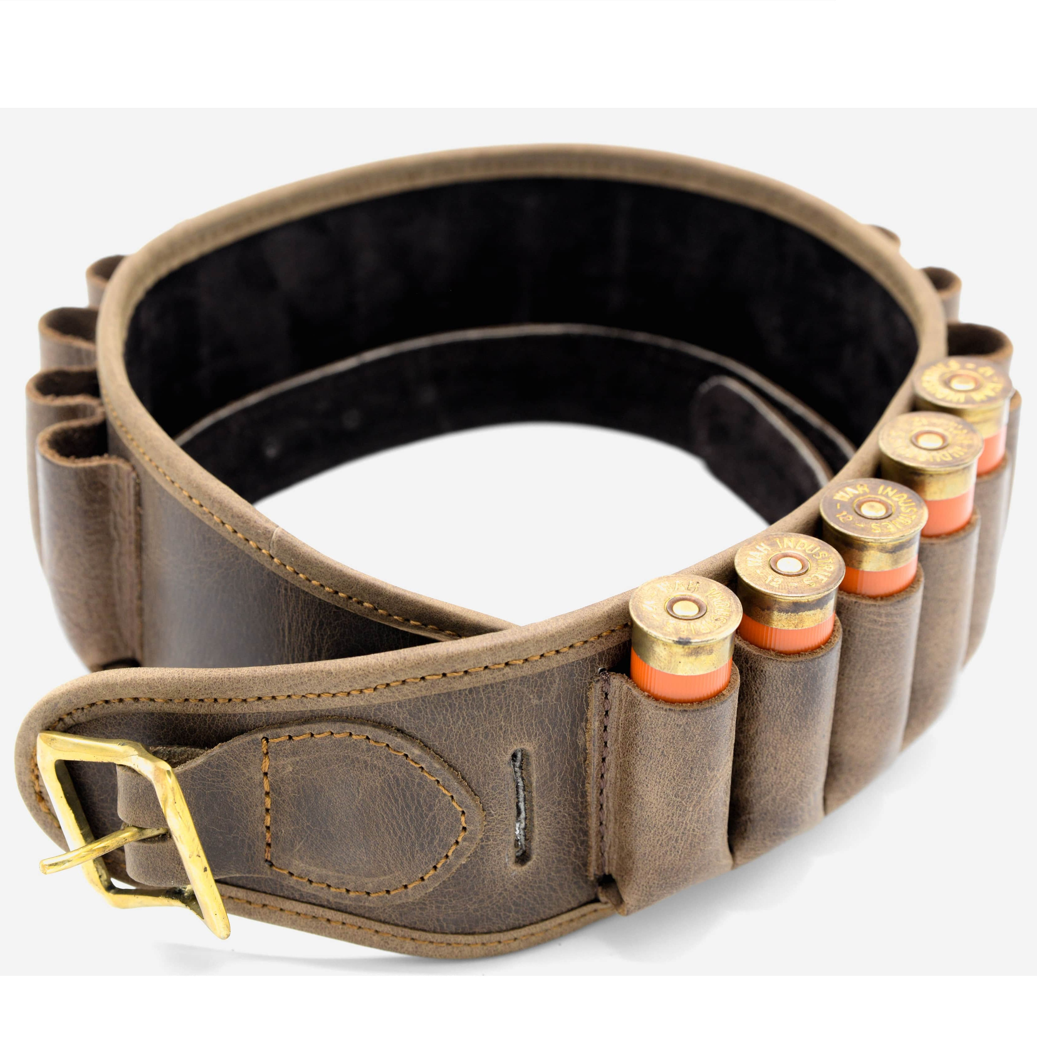Shotgun Rifle Accessories 12gauge Leather Cartridge Belt ammo carrier belt for Hunting Shooting