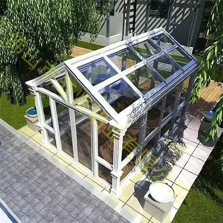 High Quality Aluminium Tringlel Sun Room Enclosure Screen Cover Aluminium Orangery Glasshouse Outdoor Glass House