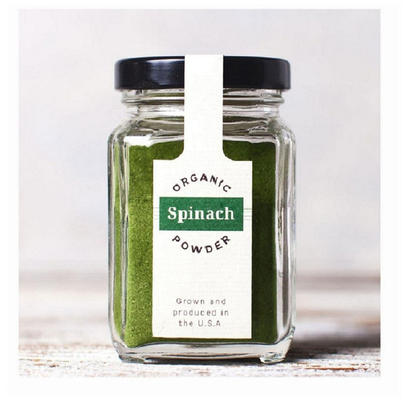 Organic Pure Fresh Non GMO Spinach Powder By Spinaca Farms Created From Grinding Dried Spinach Leaves