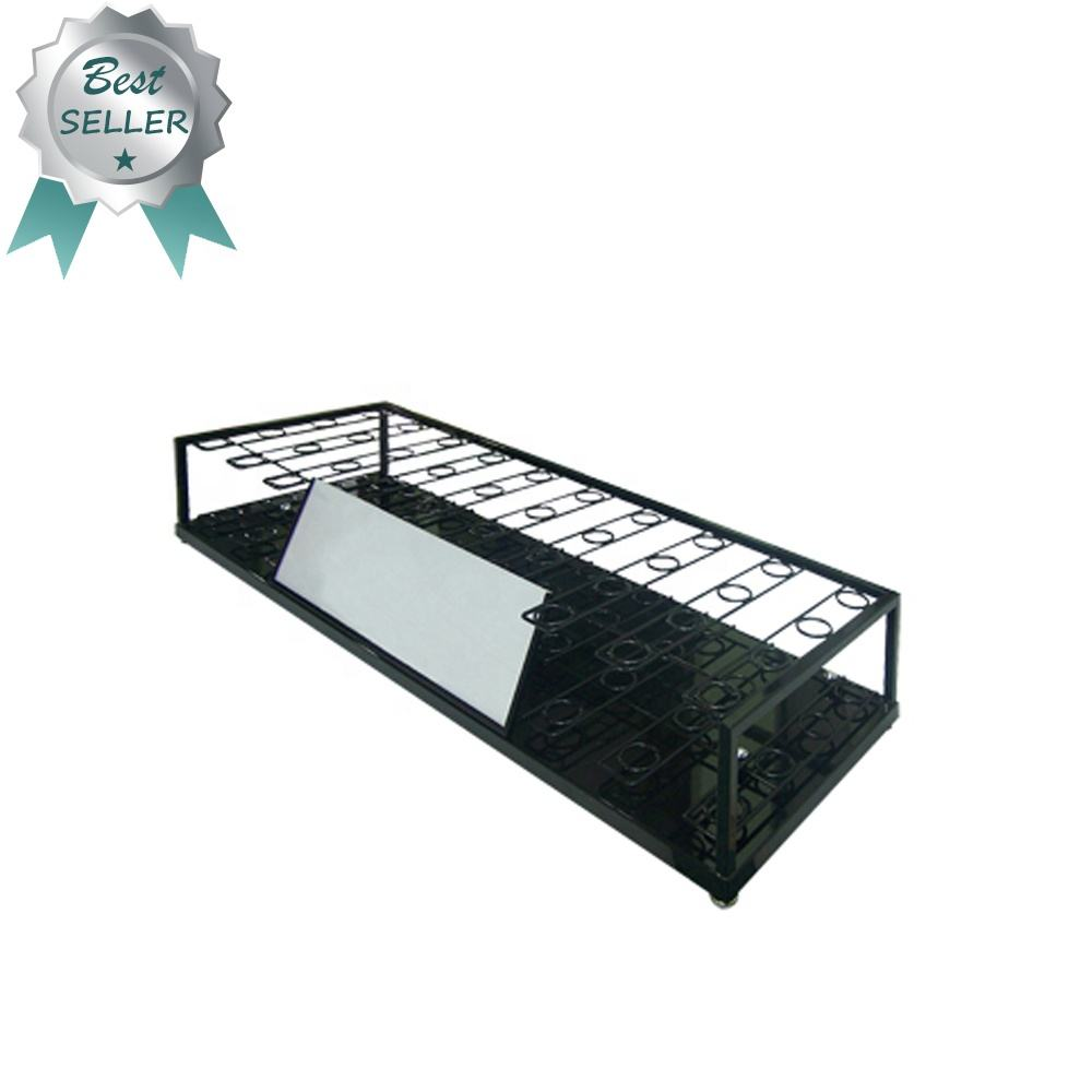 Fai da te golf club display rack display negozio di metallo di ferro set banner stand da pavimento