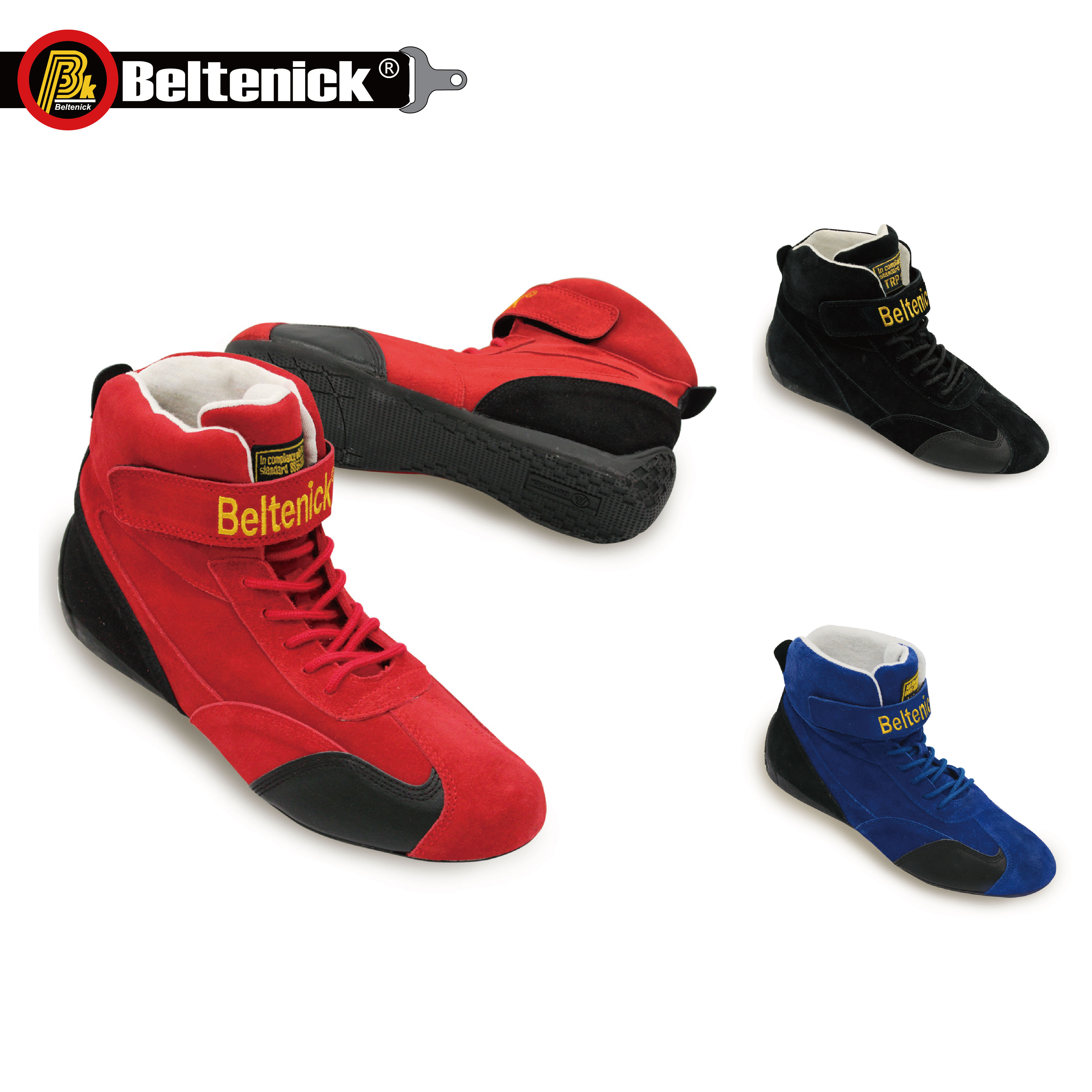 Beltenick FIA Car Fire Resistant Racing Shoes BTN-100