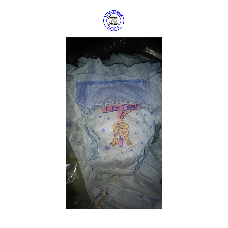 Low Market Price of Cartoon Printed Designed Second Grade Disposable Baby Diapers
