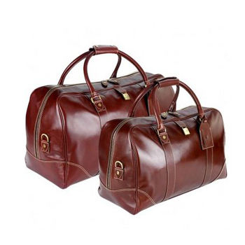 Brown leather large bag for travel