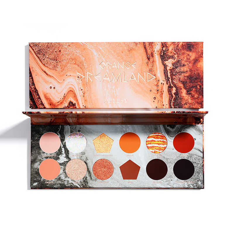 Popular style fashion waterproof easy ware high pigment eye makeup shadow pearlescent dream 12 colors eyeshadow palette