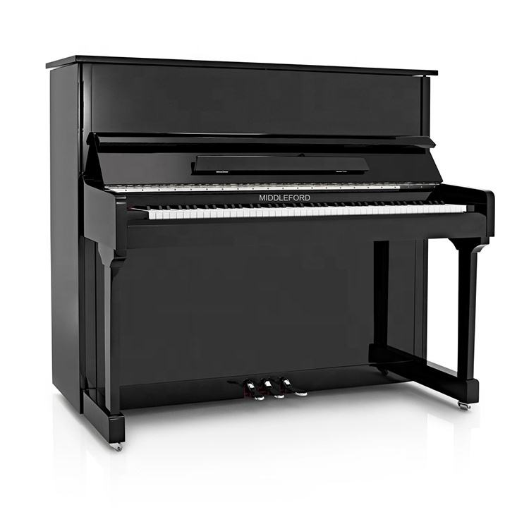 Middleford Acoustic Piano Vertical UP-121E com Peças <span class=keywords><strong>de</strong></span> <span class=keywords><strong>Metal</strong></span> Cromado