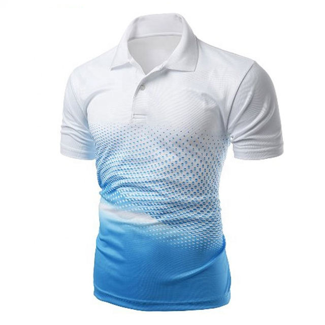 Custom design sublimation printing 100% polyester mens polo t shirt