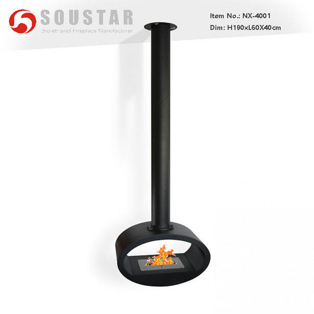 Roof Mounted ceiling hang bioethanol Fireplace