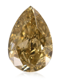 1.03Cts Fancy Brown Yellow Diamond Pear Shape, VS2 Clarity, Loose Diamond For Sale Loose Gemstone Diamond Gemstone By Real Gems