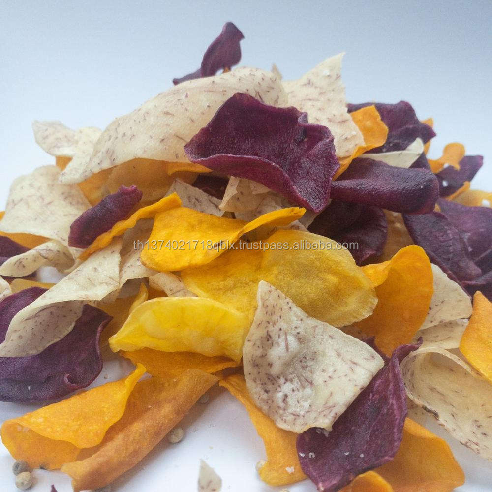 mixed vegetable chips from Thailand Gluten free and vegan 100% natural