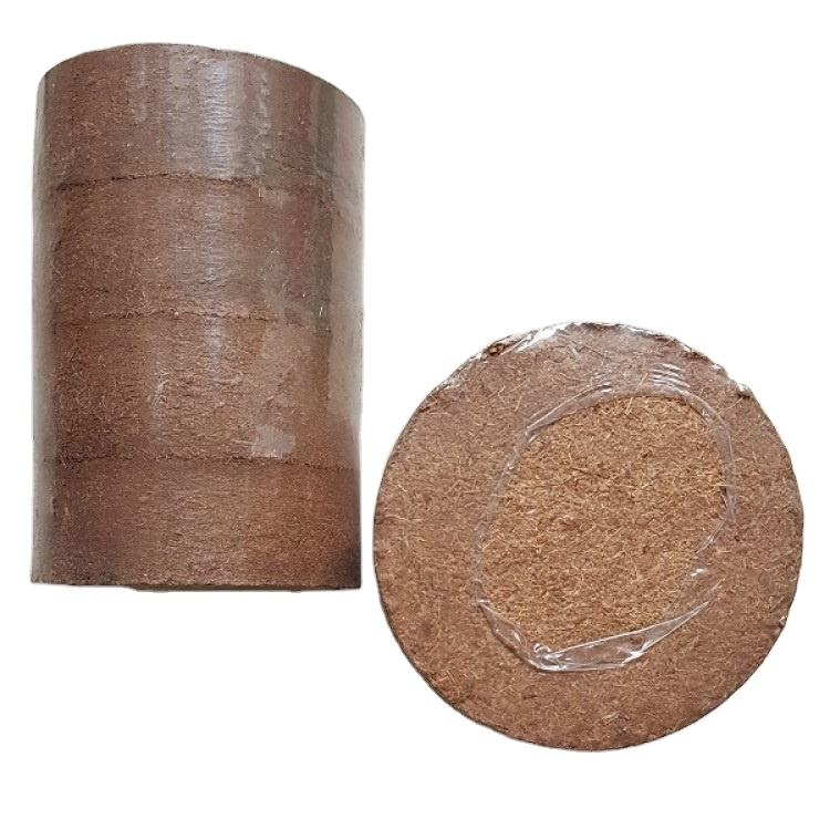 Vietnam Cocopeat Block/ Coco Coir Disk- Can Be Used As A Stand Alone Soil Or Mixed With Potting Soil