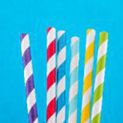 The Color striped design and premium quality of these beverage supplies Paper Straws - Color Unwrapped
