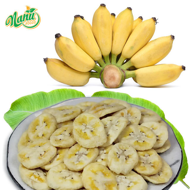 Crispy Vacuum Dried Banana Chips 100% Pure With Competitive Price