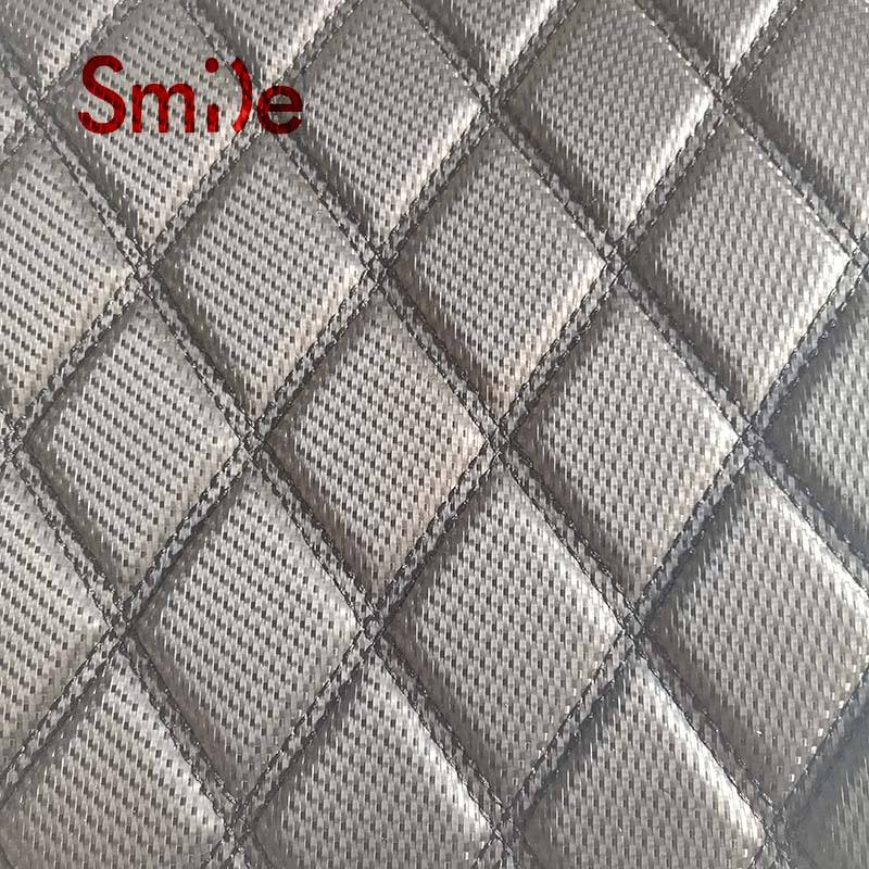PVC leather for sofa cover and car upholstery with embroidery leather 6mm foam