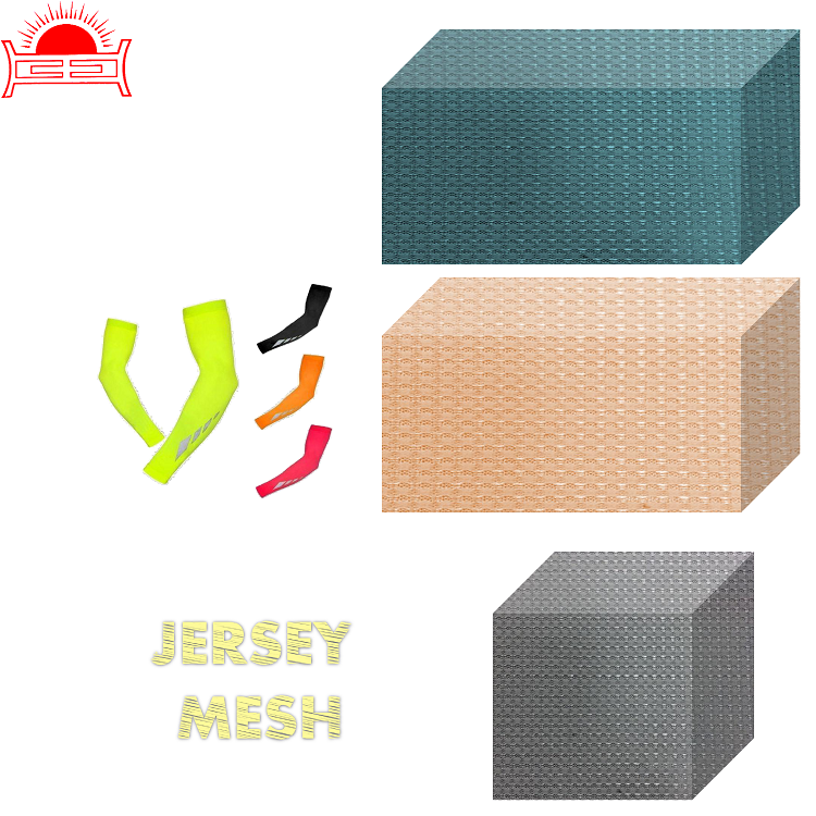 HJ-H270-7 Jacquard mesh jersey fabric shoes material