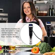 New Low Temperature Vacuum Slow Cooker Intelligent Cooking Stick Machine Waterproof IPX7 Water Temperature 0.1C SOUS VI
