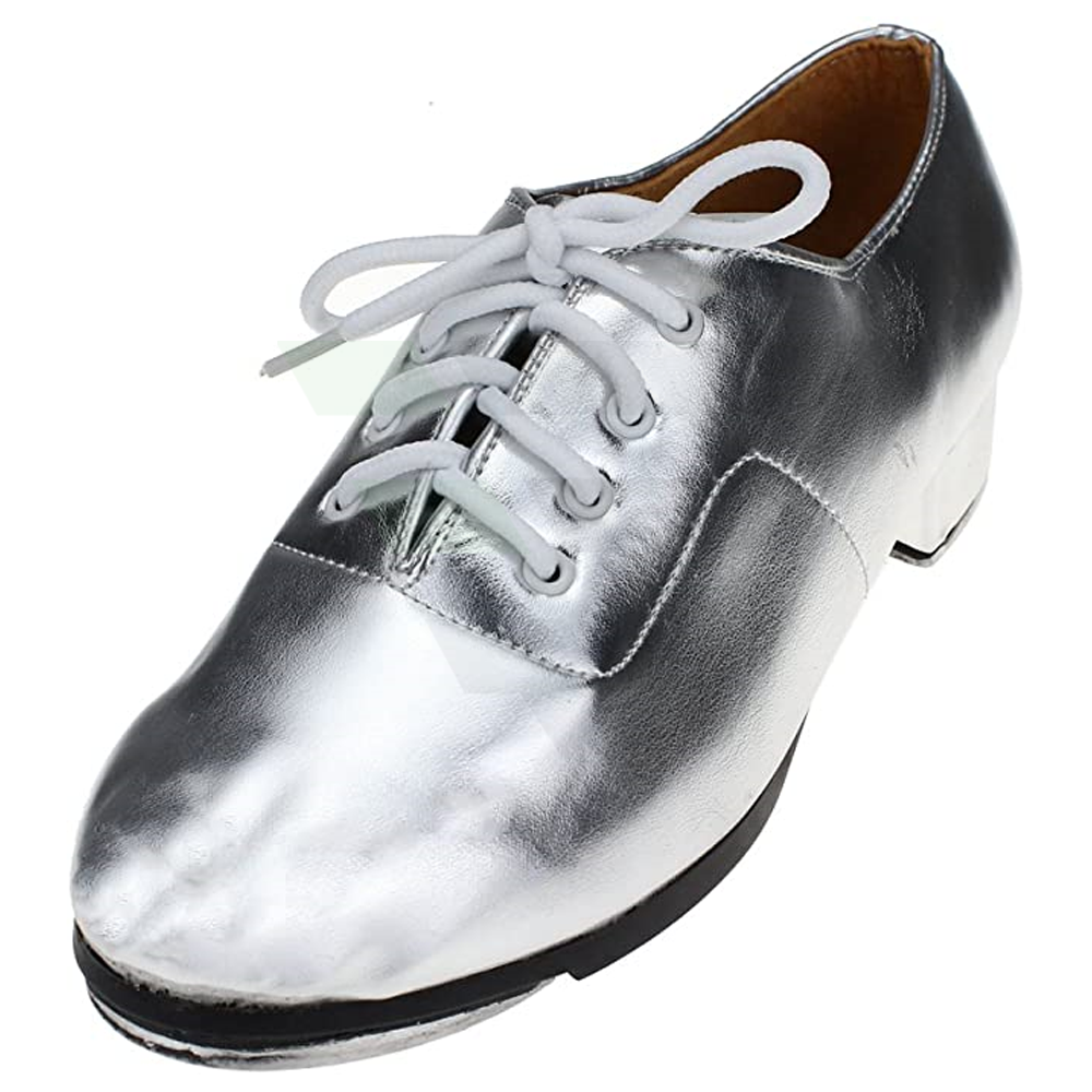Best Quality Cow Leather Adult Silver Tap Dance Shoes