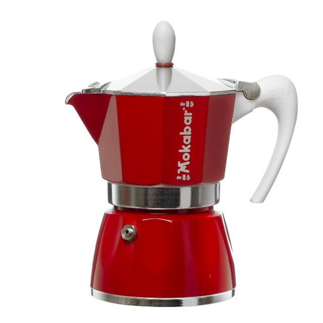 Red Moka Pot - Italian Coffee Maker - Housing Espresso - Mokabar coffee machines - Moka pot espresso coffee maker