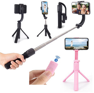 High Quality Smartphone Single Axis Anti-shaking Bluetooth Remote Control Telescopic Selfie Stick Gimbal Stabilizer With Tripod