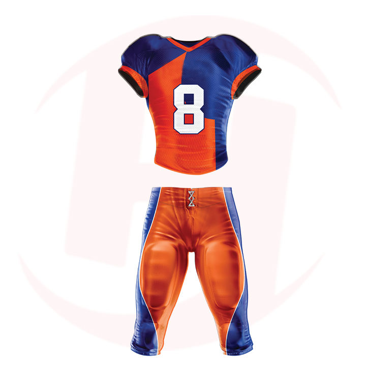 Youth American Football Uniforms Tackle Twill American Football Kits Customized Sublimation Rugby Wears Sports Wear