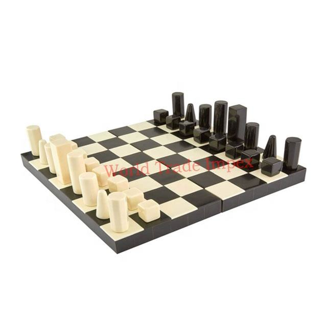 beautiful handicraft horn bone chess board