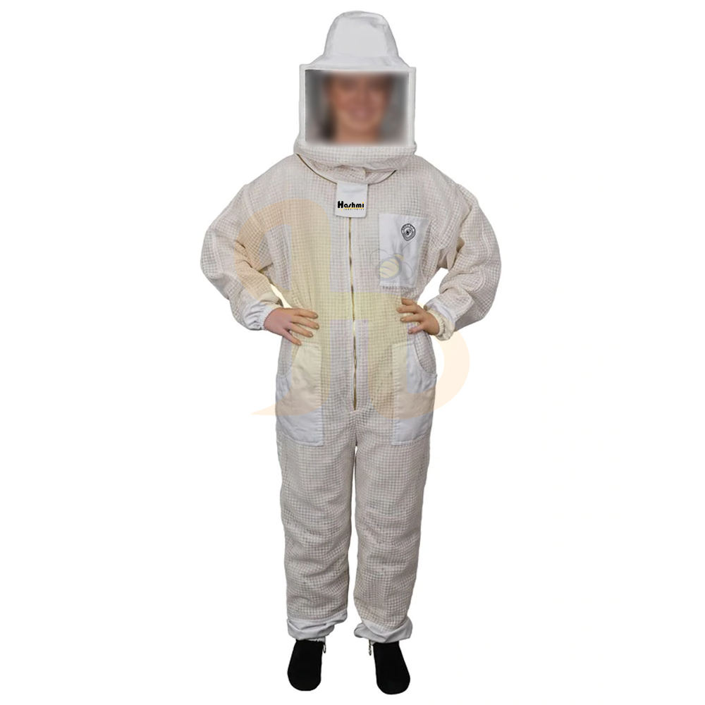 Professional Bee Suit Protection 3 Layer Mesh Beekeeper Suit Aero Beekeeping Suit with Square Veil