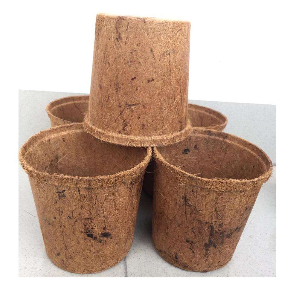 Eco-friendly coconut coir pot/ Coir pot planting seed nursery for green garden/ Biodegradable pot WS0084587176063