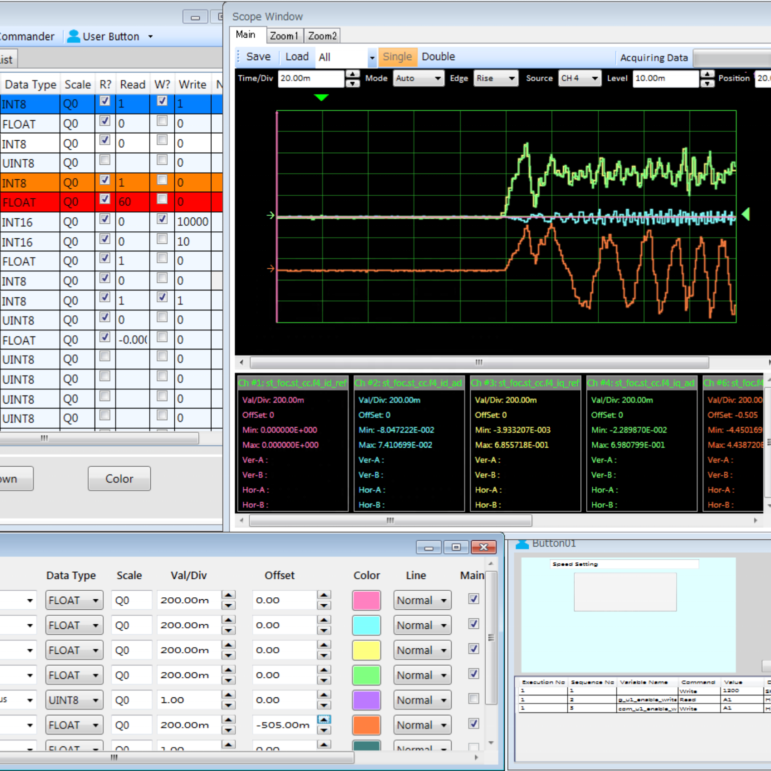 Customized industrial measurement and control software for motor control