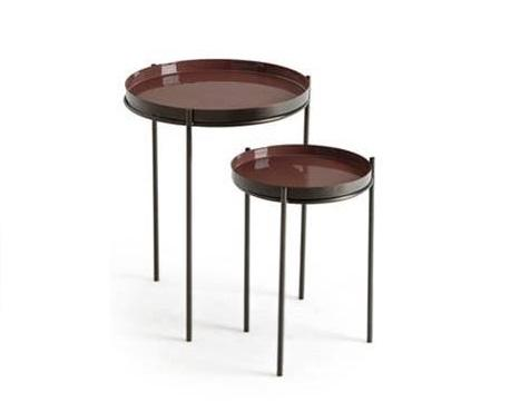 Beautiful Removable Table and Tray in colored Metal with Enamel finish, made In India