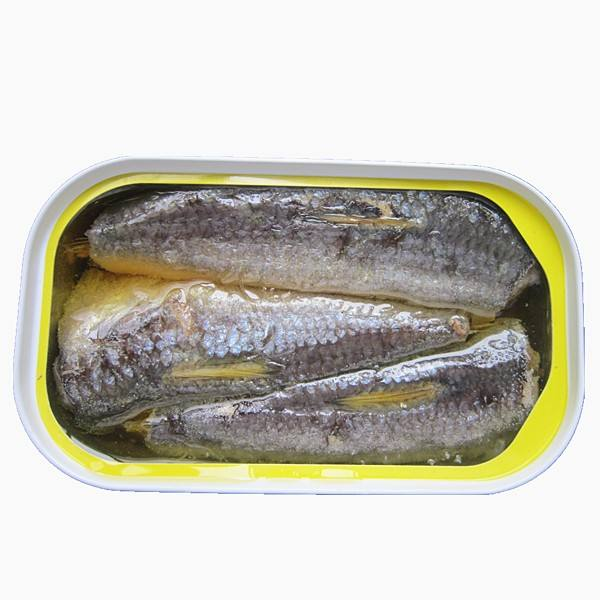 High Selling OVAL Chinese Canned sardines in vegetable oil, club can sardine 125g