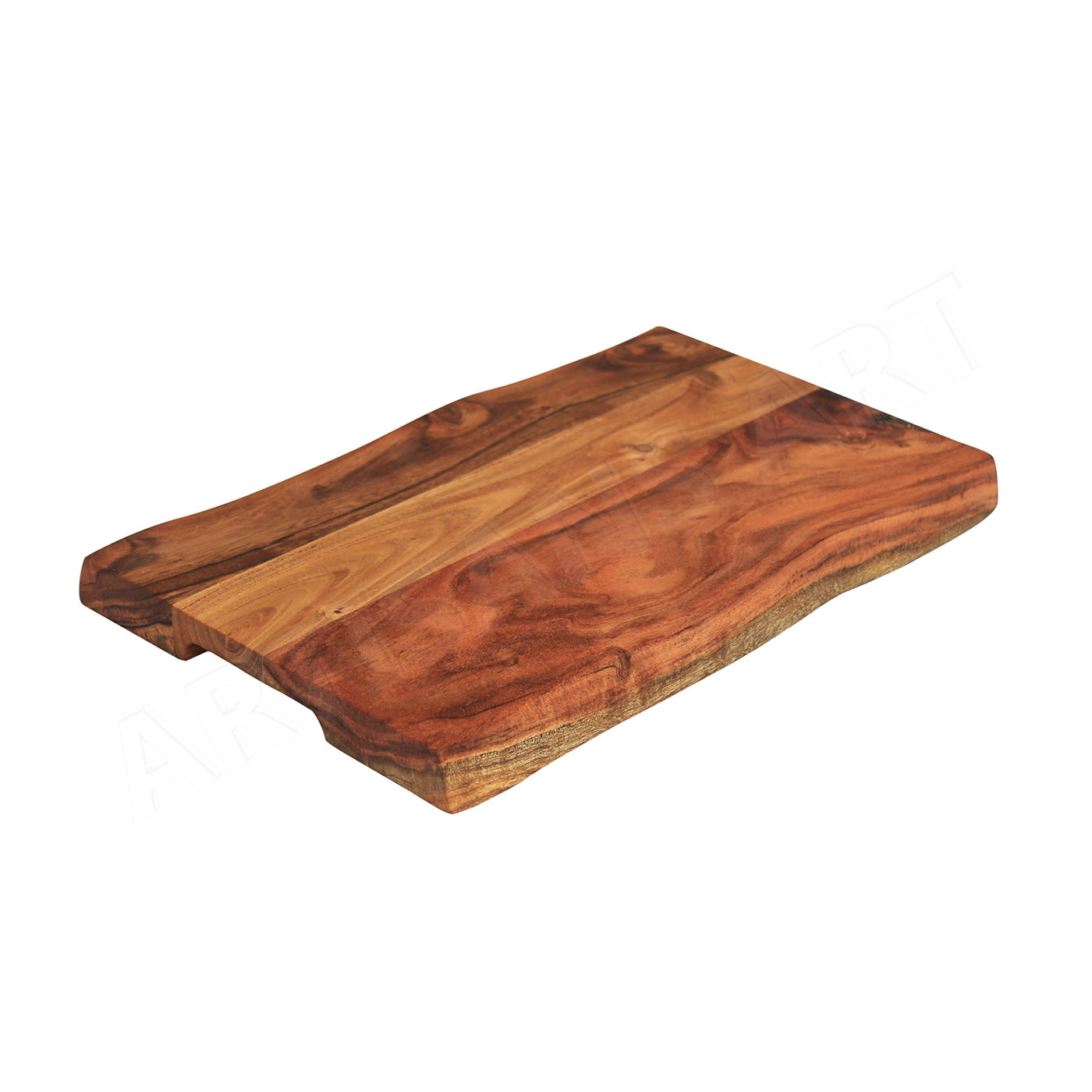 Mid Century Solid Wood Hand Crafted Live Edge Acacia wood Chopping Board, Wooden Cutting Block, Kitchen Knives & Accessories