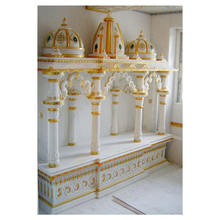 Colorful Handmade Beautiful White Marble Temple