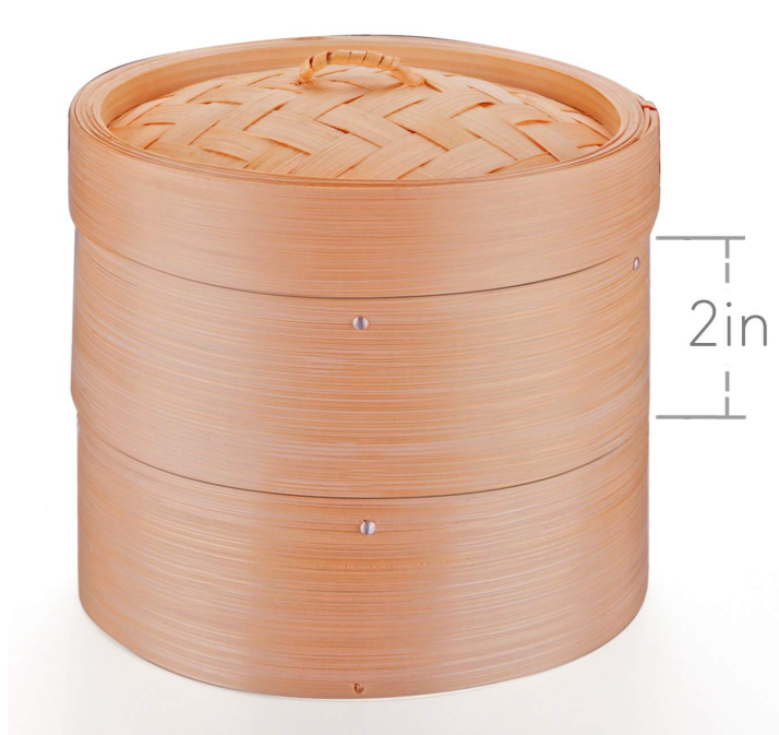Natural bamboo steamer brings a new flavor to your meal