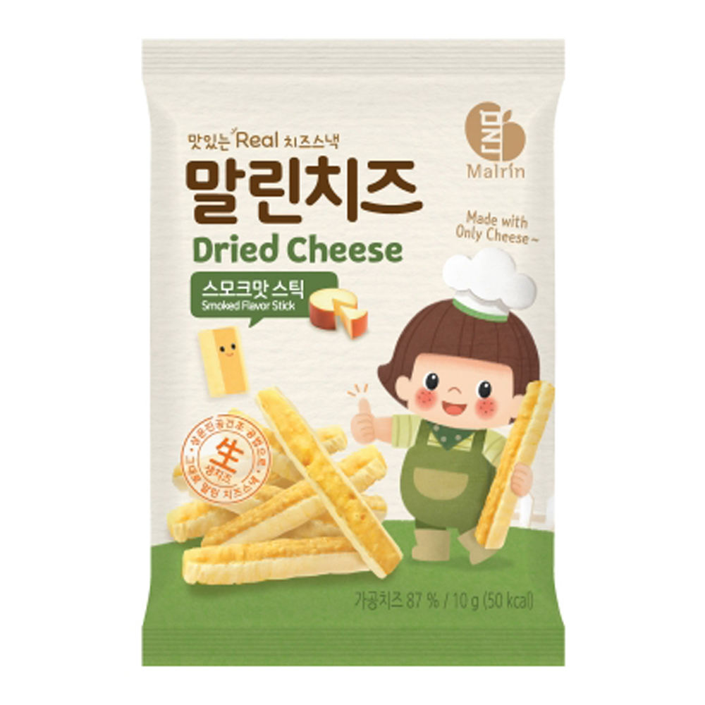 Dried Cheese Easy to Eat Snacks for Whole Family stick type 2 Flavors 24 EA